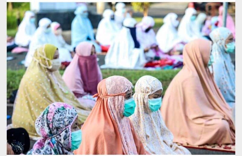(Foto ilustrasi) Shalat Idul Adha di tengah pandemi virus corona