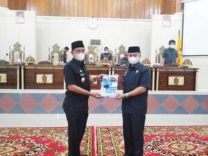 DPRD Wajo Terima Ranperda Perubahan RPJMD Untuk Dibahas Dalam Rapat Paripurna