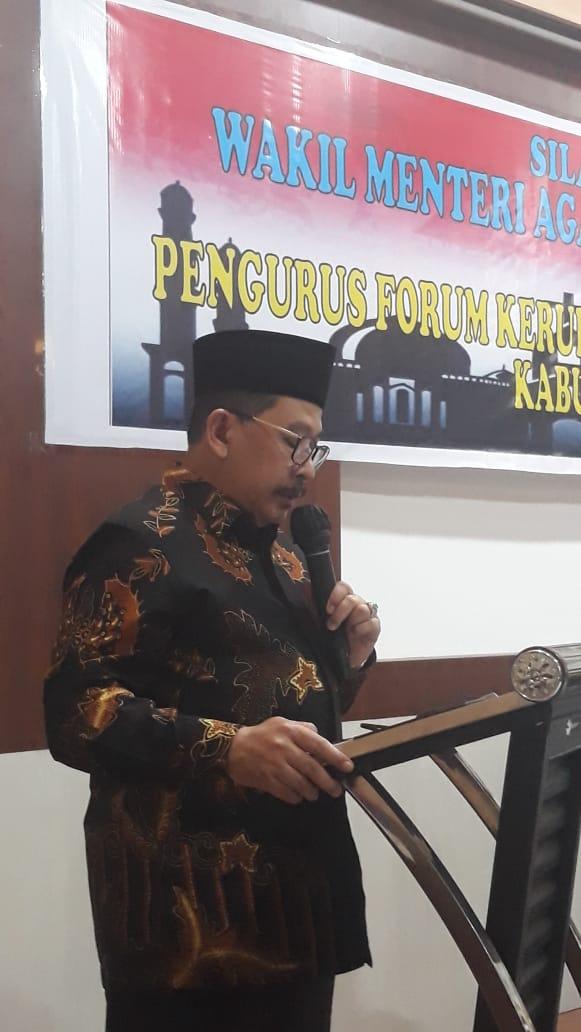 Wakil menteri Agama Republik Indonesia, Zainut Tauhid Sa'adi (foto : Fadel)